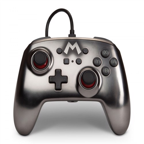 Image of PowerA Nintendo Switch Enh Wired Controller - Silver - Nintendo Switch (0617885024368)