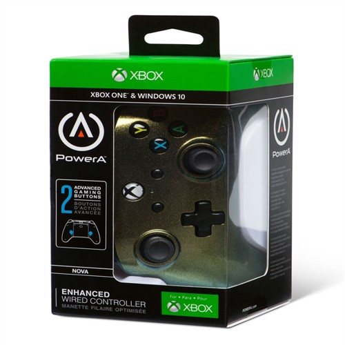 Image of Powera Xbox One Controller, Enhanced Wired Cosmos Nova (0617885018503)