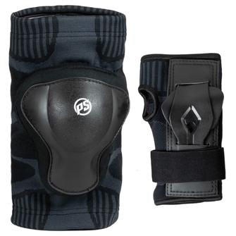 Image of Powerslide Onesize Dual Pack beskyttelsessæt, til mænd Sort (4040333513835)
