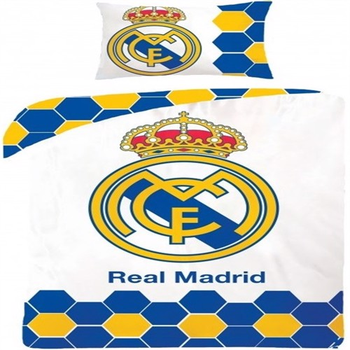 Image of Real Madrid 2I1 Sengetøj 100 Procent Bomuld Model 13