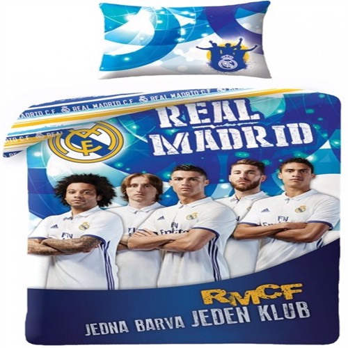 Image of Real Madrid 2I1 Sengetøj 100 Procent Bomuld Model 19