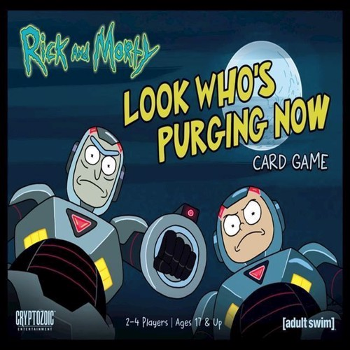Image of Rick Morty Look Whos Purging Now Card Game English