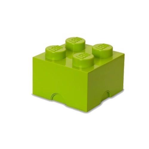 Image of Room Copenhagen LEGO opbevarings klods 4 lys gul grøn (5701922400309)