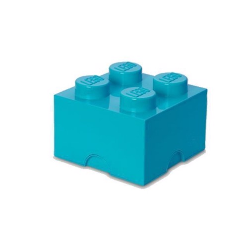 Image of Room Copenhagen - LEGO Opbevaringskasse Brick 4 - Medium Azur