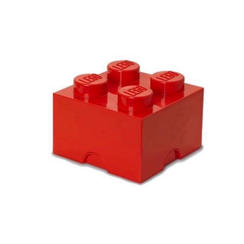 Image of Room Copenhagen Lego Opbevaringsklods 4, Rød