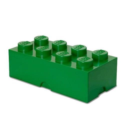 Image of Room Copenhagen Lego Opbevaringsklods 8, Mørk Grøn