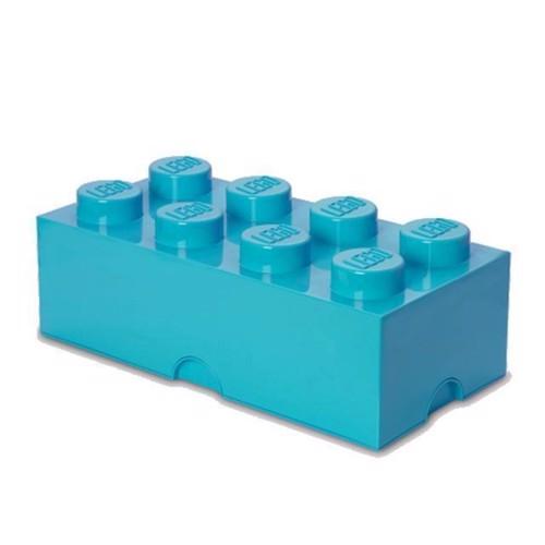 Image of Room Copenhagen - Lego Opbevaringskasse Brick 8 - Medium Azur