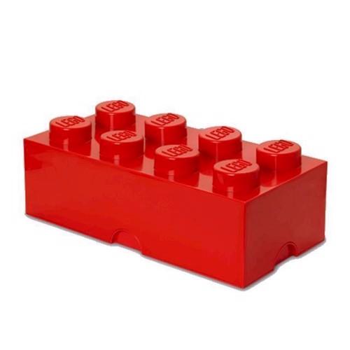 Image of Room Copenhagen Lego Opbevaringsklods 8, Rød