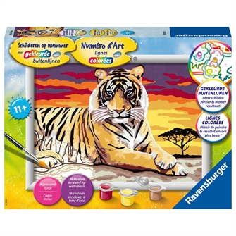 Image of Painting by Numbers - Tiger (4005556289233)