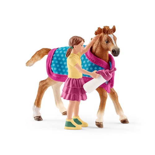 Image of Schleich Foal with Blanket (4059433254715)