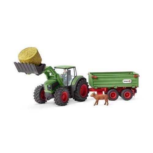 Image of Schleich Traktor med trailer (4055744039324)