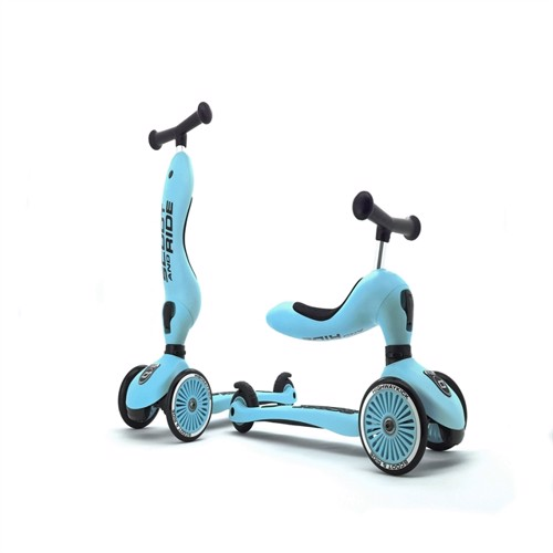 Image of Scoot and Ride - 2 i 1 Balance cykel/ Scooter - blåbær (4897033963527)