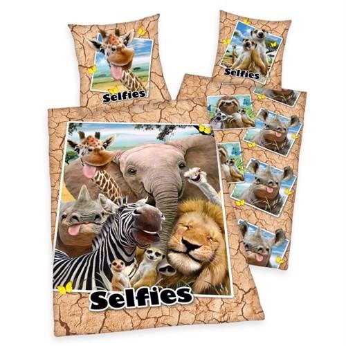 Image of   Selfies Safari Dyre Sengetøj 100 Procent Bomuld