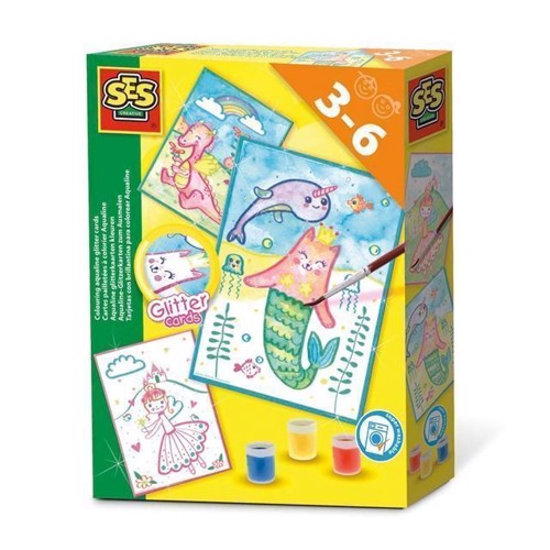 Image of SES vand glitter kort (8710341140144)