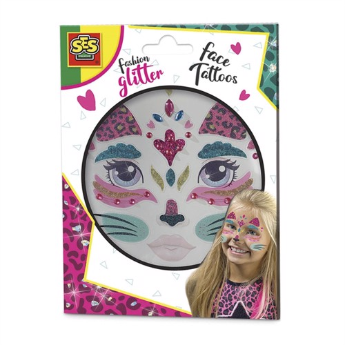 Image of SES Fashion Glitter Face Tattoos - Cat (8710341141462)