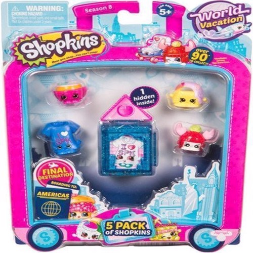 Image of Shopkins - S8 World Vacation - America 5 pack (5710948323493)