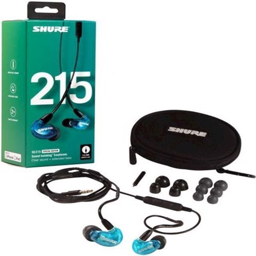 Image of Shure SE215 UNI InEar Earphones Special Edition Blue (0042406547178)