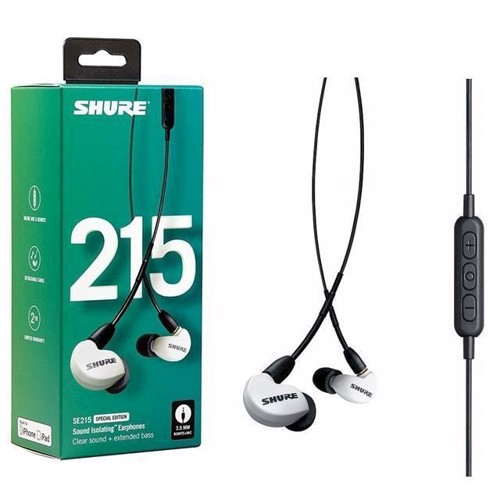 Image of Shure SE215 UNI InEar Earphones Special Edition White (0042406547185)