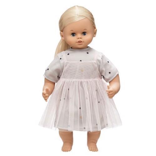 Image of   Dukke, Talende dukke med bond hår 45 cm, Skrållan