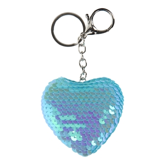 Image of Keychain Sequins Heart (8715973136176)