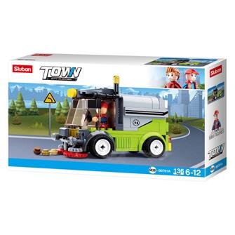 Image of Sluban - Sweeper truck (8719558071661)