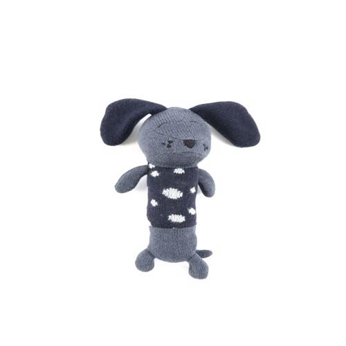 Image of Smallstuff, Maracas Crochet Rangle, dalmatiner, blå