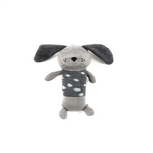 Image of Smallstuff, Maracas Crochet Rangle, dalmatiner, grå