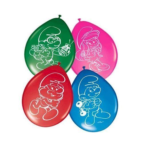 Image of Balonner med smølfer 8 stk