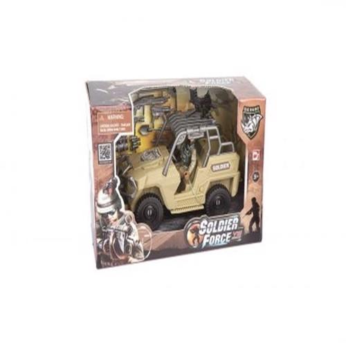 Image of Soldier Force - Quick køretøj Jeep desert (4893808210643)