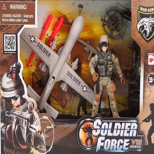 Image of   Soldat legetøj, Soldier Force, VIII Rapid Action Drone