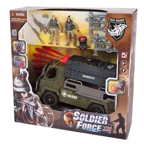 Image of   Soldat legetøj, Soldier Force, VIII lastbil med raket skyder