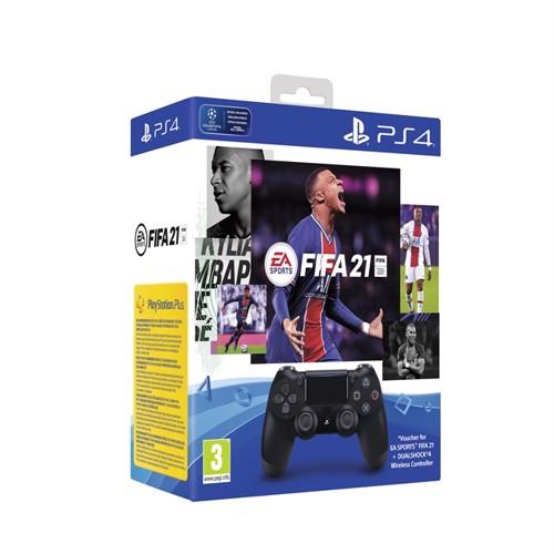 Sony Dualshock Controller 4 V2 Black + FIFA 21, PS4 køber ...