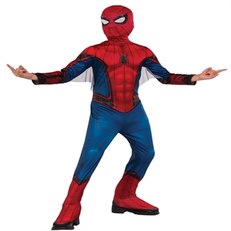 Image of Spiderman Far From Home Rød/Blå Kostume (3-7 år)(Str. 137/M) (883028335541)