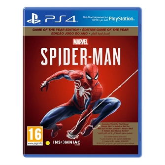 Image of Spider-Man (Game of the Year) (UK/Arabic) - PS4 (0711719958901)