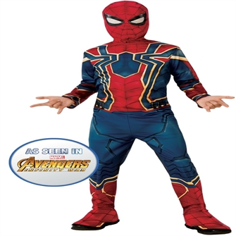 Image of Spiderman Rød/Blå Kostume (3-10 år)(Str. 122/S) (883028337224)