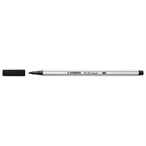 Image of Stabilo Pen 68 Brush 46 Sort (4006381546065)