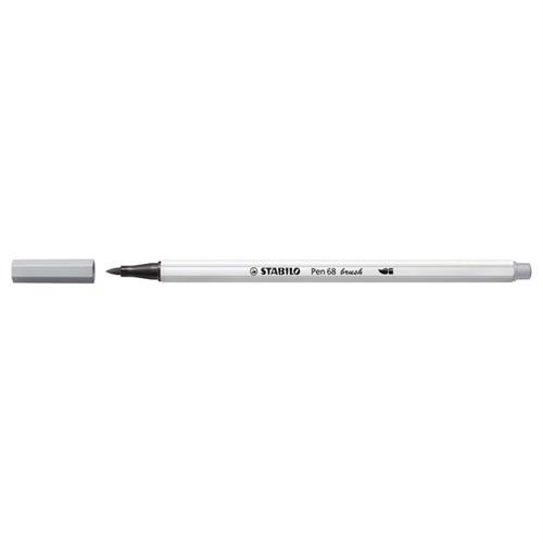 Image of Stabilo Pen 68 Brush 94 Lysegrå (4006381546034)