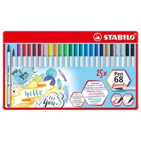 Stabilo pen 68 brush metalæske med 25 dele
