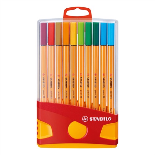 Image of STABILO point 88 Color parade Red / Orange, 20 pieces. (4006381363976)