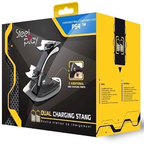 Image of Steelplay Dual Controller Charging Station - PS4 (3760210993246)