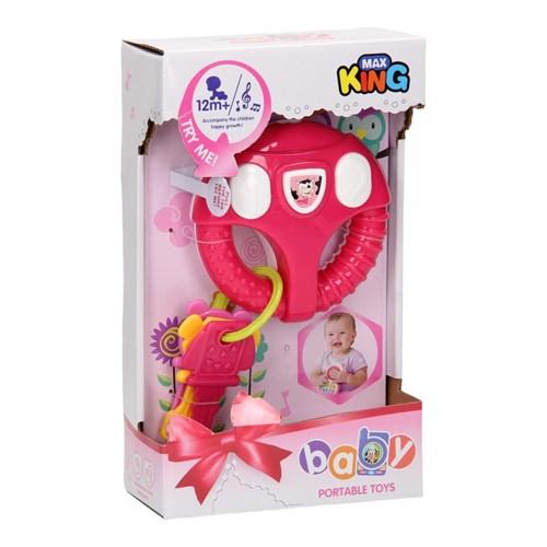Image of Baby rat med nøgler, pink