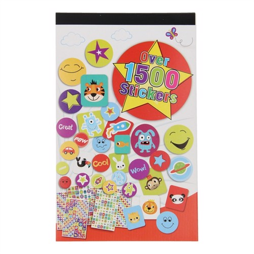 Image of Sticker book, 1,500 Stickers (5012128341847)