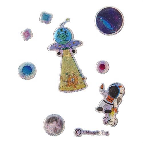 Image of Klistermærker, rumrejse, glitter (5413247097422)