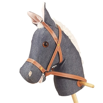 Image of Stick Horse with Sound - Denim (8719348004107)