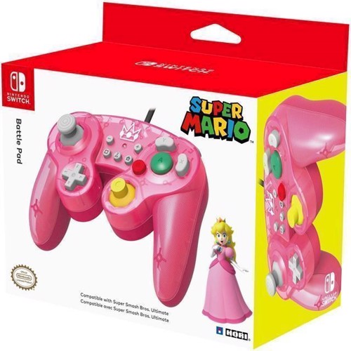 Image of Super Smash Bros Gamepad Peach - Nintendo Switch (0873124007343)