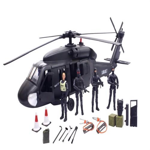 Billede af Swat Black Hawk Helikopter Inkl 4 Actionfigurer 1:18