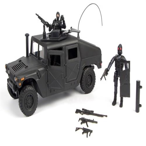 Image of Swat Humvee Inkl Tilbehør Og 2 Figurer 1:18 (018859771231)