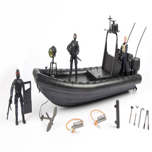 Image of Swat Patruljebåd Inkl Tilbehør Og 3 Actionfigurer 1:18 (018859771286)