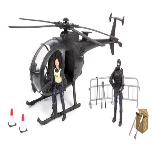 Image of Swat Redningshelikopter Inkl Tilbehør Og 2 Figurer 1:18 (018859771316)