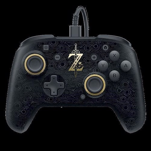 Image of Switch Breath Of Wild Faceoff Deluxe Wired Pro Controller (0708056061951)